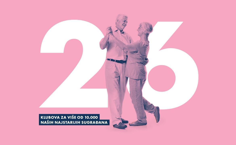 26 klubova za najstarije građane