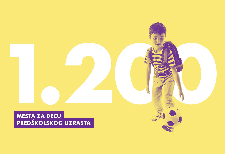 Obezbeđeno 1200 mesta za decu predškolskog uzrasta