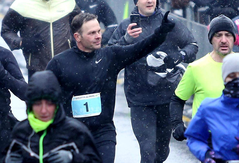 Gradonačelnik Siniša Mali na beogradskom maratonu