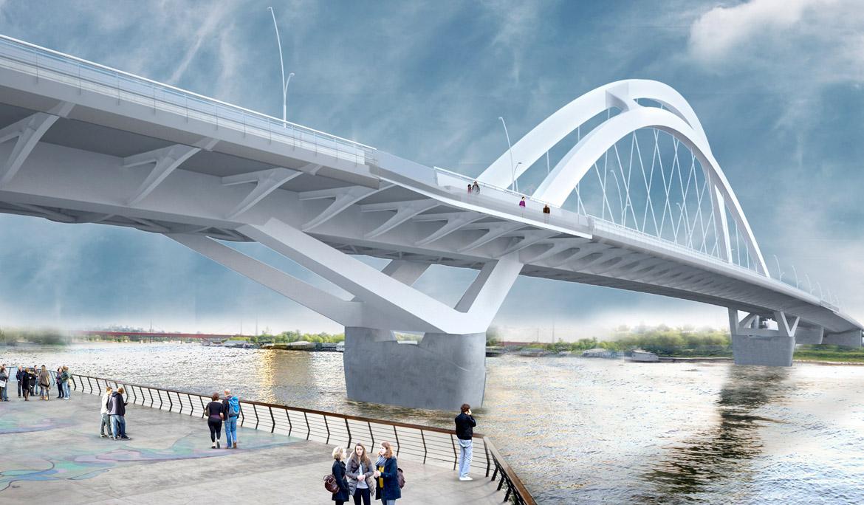 Budući izgled Savskog mosta kod Beograda na vodi