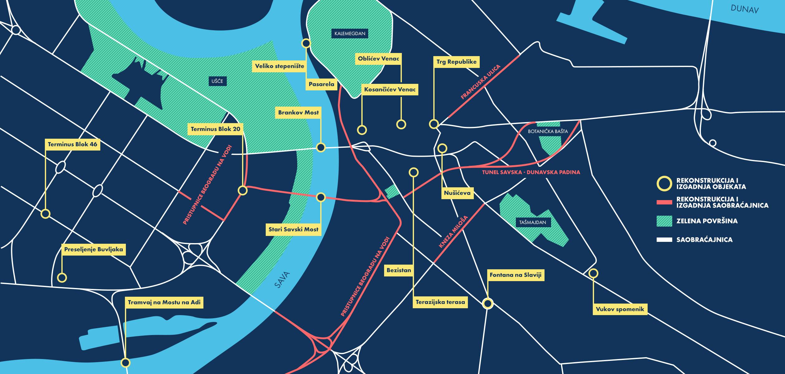 mapa beograda od do Grad kranova | Beograd živi | Beograd živi mapa beograda od do